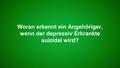 Woran erkennt man Suizidgedanken?
